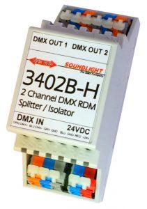 dmx booster splitter 3402b-h