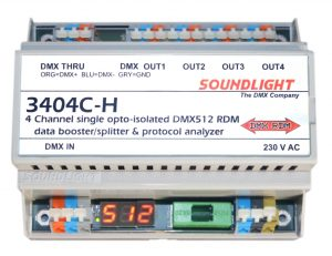 dmx splitter 3404c-h